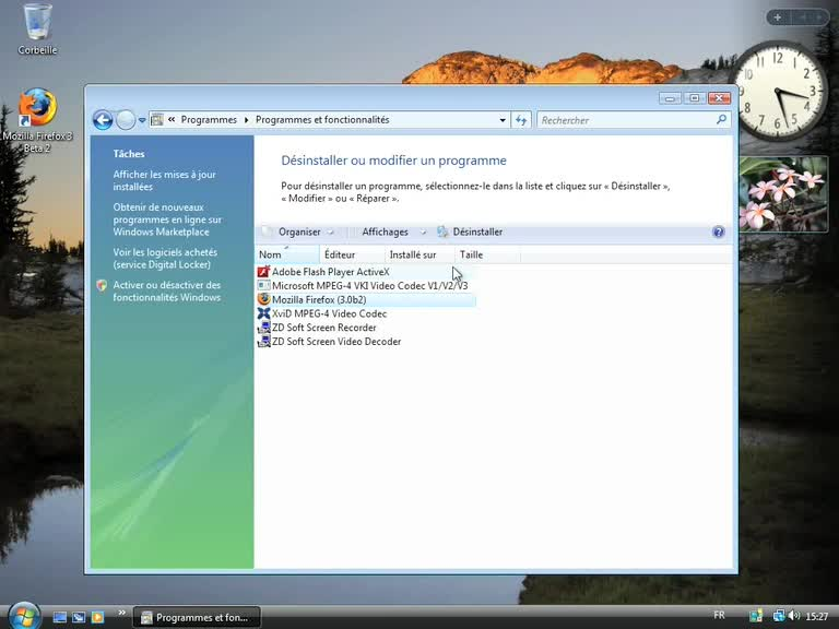 Désinstaller un programme sur Windows Vista