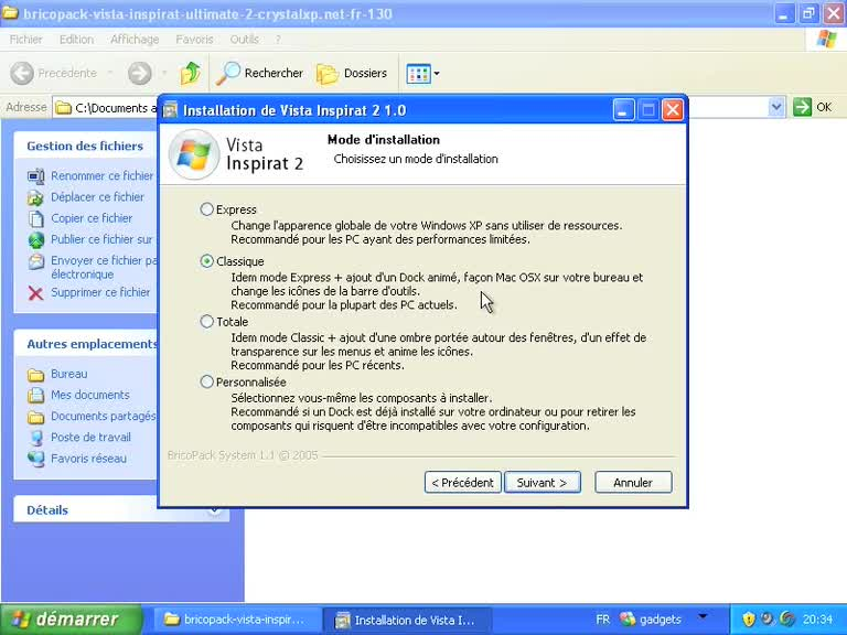 Transformer Windows XP en Windows Vista