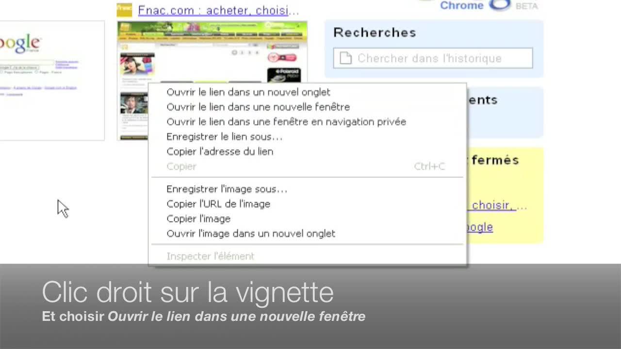 La page Nouvel onglet de Google Chrome