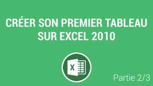 Modifier la structure et la mise en forme d'un tableau Excel 2010