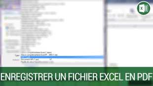 Enregistrer un fichier Excel au format PDF