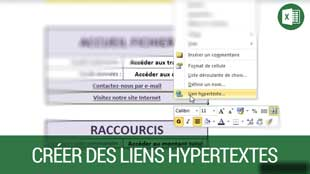 Créer des liens hypertextes sur Excel