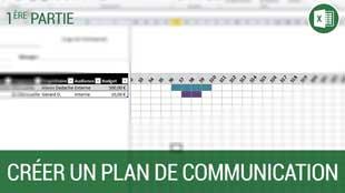 Création d'un plan de communication sous Excel 2010 – Partie 1