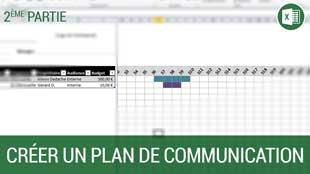 Création d'un plan de communication sous Excel 2010 – Partie 2