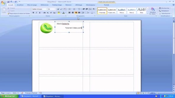Creation De Cartes Visite Sur Word 2007