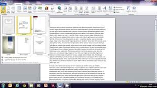 Insertion d'une page de garde dans un document Microsoft Word