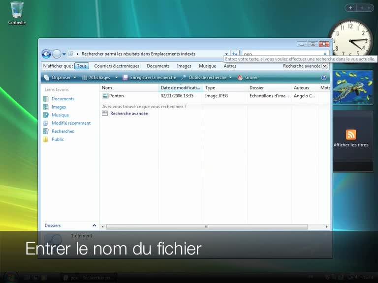 La fonction Rechercher de Windows Vista