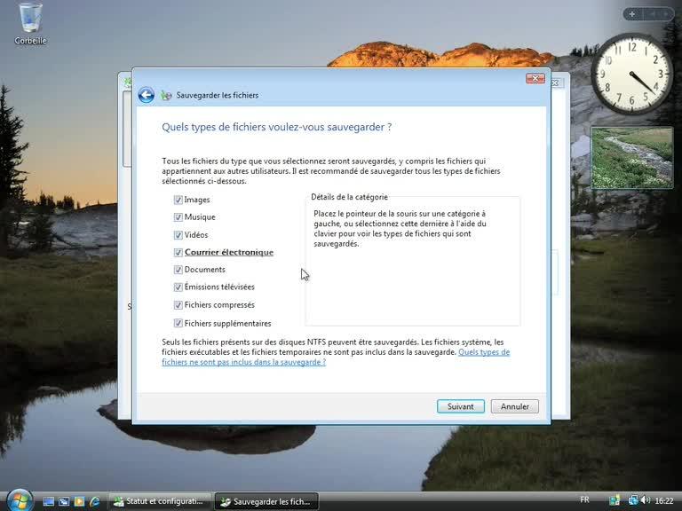 Sauvegarder vos fichiers automatiquement sur Windows Vista
