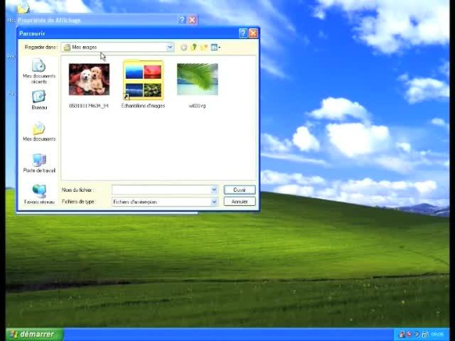 Changer votre fond d'écran sur Windows XP
