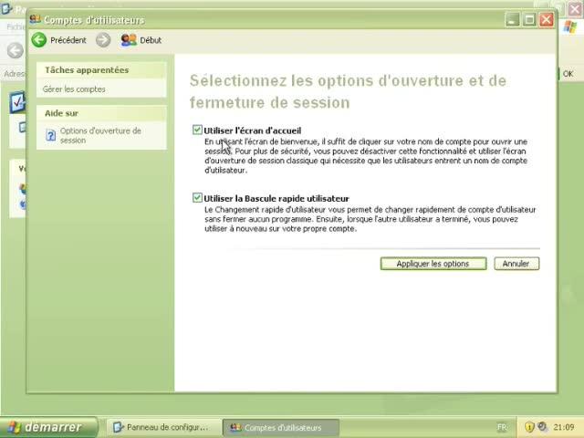 Les Comptes Utilisateurs sur Windows XP