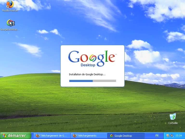 Installer un Volet Windows sur Windows XP