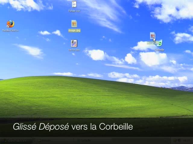 Savoir utiliser la Corbeille de Windows XP