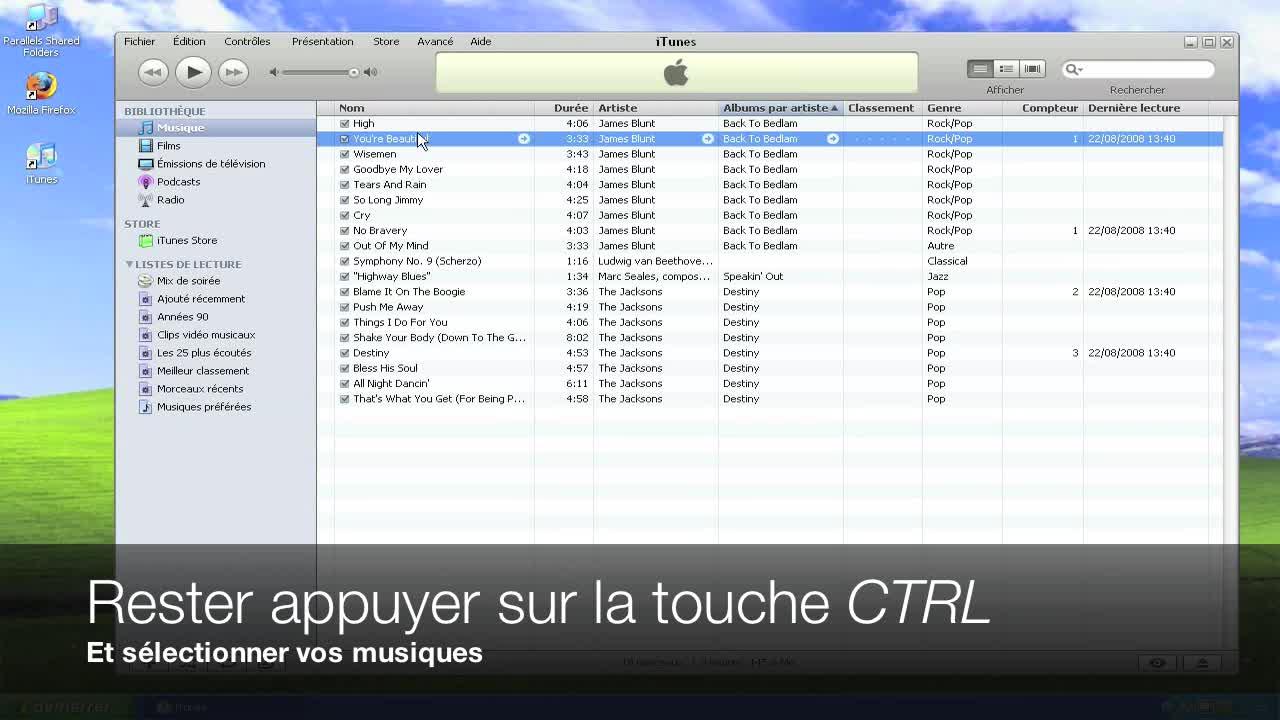Gérer vos playlists sur iTunes