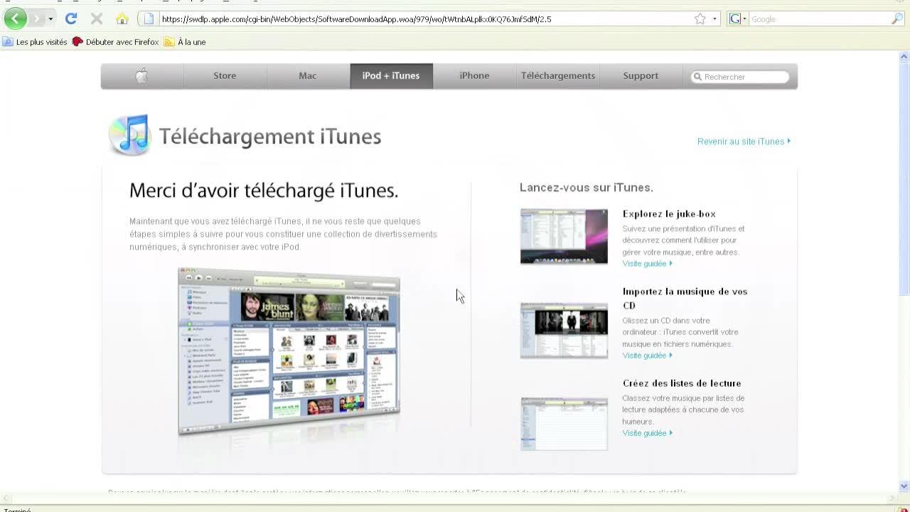 Télécharger et installer iTunes
